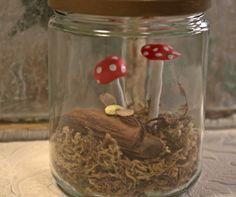 Mushroom Assemblage glass by mothsandrustshop on Etsy
