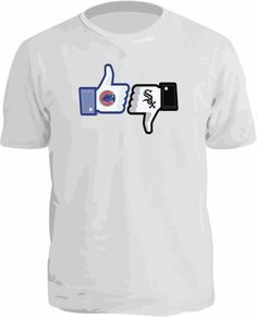 """CHICAGO CUBS """"LIKE"""" THUMBS UP SHIRT! CHICAGO WHITE SOX SUCK! FACEBOOK $12.95 on eBay"""