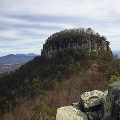 Hiking around Pilot Mountain NC.