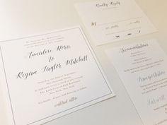 ASTER Wedding Invitation Set