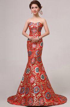 wedding gowns around the world Oriental Fashion, Asian Fashion, Chinese Gown, Chinese Bride, Chinese Dresses, Pretty Dresses, Beautiful Dresses, Chinese Wedding Dress Traditional, Evening Dresses