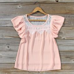 Pink Abalone Blouse, Sweet Bohemian Lace Tops on Wanelo