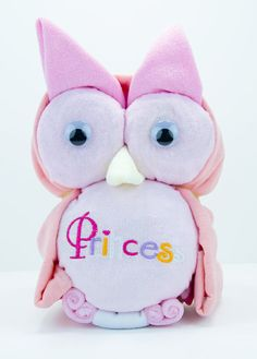 Pink Princess Baby Girl Owl Diaper Cake by EnkiConcepts on Etsy