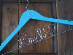 Tiffany Blue Wedding Dress Hanger with Jewel accent, Something Blue, Bridal Hanger, Personalized, Unique Wedding Gift, Photo op