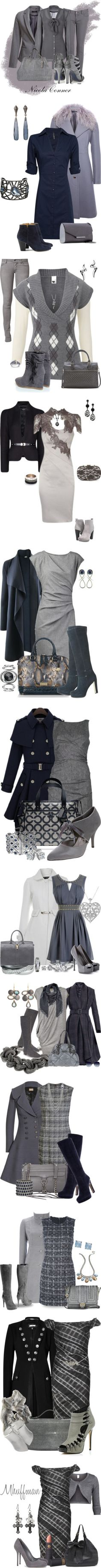 """""""Grey"""" by glinwen ❤ liked on Polyvore"""