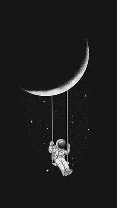Pin by samantha keller on astronaut wallpaper, space illustration, astr Planets Wallpaper, Dark Wallpaper Iphone, Wallpaper Space, Tumblr Wallpaper, Cute Wallpaper Backgrounds, Black Wallpaper, Cartoon Wallpaper, Wallpaper Awesome, Minimalist Wallpaper