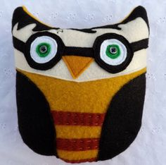 Plush Character Owl Softie  Plushie Inspired by Harry Potter