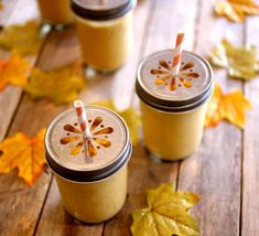 Creamy Pumpkin Smoothies  Recipe from: Inspired by Blendtec Recipes | Serves: 5 eight ounce smoothies  Ingredients    3/4 cup whole milk  1 cup Greek vanilla yogurt  1 cup pumpkin puree  3 Tablespoons granulated sugar  2 teaspoons pumpkin pie spice  2 bananas quartered and frozen  1 cup ice cubes