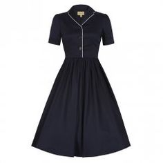 'Dorothy' Navy Swing Dress