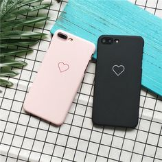 Lovely Cute Love Heart Print Frosted Phone Case Cover For Apple iPhone X 7 Plus Iphone 8 Plus, Iphone 7, Coque Iphone, Iphone Phone Cases, Apple Iphone, Girly Phone Cases, Hard Phone Cases, Cell Phone Covers, Diy Phone Case