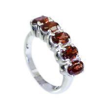 fetching Garnet Silver Red Ring jaipur L-1in US 5678