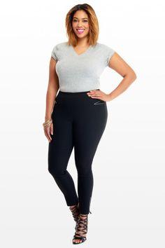Plus Size Lara Zip Skinny Pants | Fashion To Figure