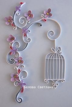 *QUILLING ~ Hamster Challenge: Quilling-reference number 11 - Pastel colors