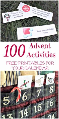 100 Advent Calendar Activities and Ideas {free printables!} : Awesome list of family outings, movies, volunteer ideas & favorite Christmas activities perfect for any Advent calendar or countdown! Advent Calendar Fillers, Advent Calendar Activities, Advent Calendars For Kids, Kids Calendar, Diy Advent Calendar, Calendar Ideas, Calendar Printable, Printable Numbers, Christmas Books