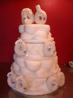 Seen this one & had to pin it ...... So adorable....! What an original idea for a wedding cake ..... doughnuts!  donut cakes for weddings | Pam's Custom Cakes: Donut Wedding Cake