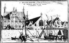 't Stadt-huys op Delftshaven mitsgaders de kerck aldaer van outs genaemt St. Anthonis Capel, jaar 1700