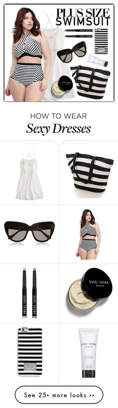 """""""Sexy in Black Plussize Swimsuit"""" by sasikewl on Polyvore"""
