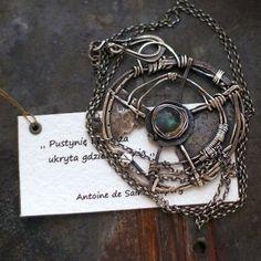 labradoryt kompas - cobalt blue ewa lompe biżuteria autorska .