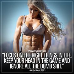 IFBB Bikini pro Frida Paulsen Quote Focus on the right things in life – Fitness motivation - Star Fitness Workouts, Sport Fitness, Fitness Diet, Fitness Models, Health Fitness, Muscle Fitness, Sport Motivation, Fitness Motivation Quotes, Diet Motivation