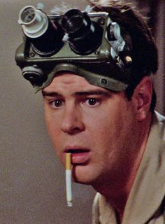 Dan Aykroyd Ghostbusters movie moment cigarette funny
