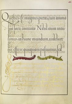 [folio 55r] Joris Hoefnagel (illuminator) [Flemish / Hungarian, 1542 - 1600], and Georg Bocskay (scribe) [Hungarian, died 1575], Caterpillars, Flemish and Hungarian, 1561 - 1562; illumination added 1591 - 1596, Watercolors, gold and silver paint, and ink on parchment, Leaf: 16.6 x 12.4 cm (6 9/16 x 4 7/8 in.), 86.MV.527.55.
