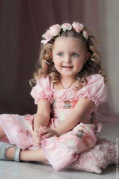 Dress for girl / Одежда для девочек, ручной работы. Ярмарка Мастеров - ручная работа. Купить Розовые мечты. Нарядное платье для девочки из хлопка. Розовый кварц. Handmade.