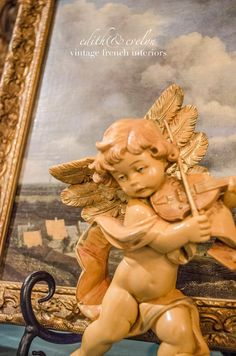New Vintage Cherub Italian Fontanini Angel Putti by edithandevelyn