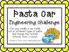 Pasta Cars: Engineering Challenge Project ~ Great STEM Activity!