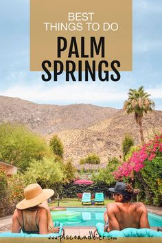 Planning a Palm Springs getaway and want to get travel inspiration on the best places to go in Palm Springs? In this destination guide we will show our favorite and best things to do in Palm Springs. From discovering mid-century houses to desert art and the Palm Springs windmills. | Palm Springs guide | What to do in Palm Springs | best spots to visit in Palm Springs | Must see in Palm Springs | Best Instagram spots in Palm Springs | Palm Springs weekend | #palmsprings #desert… Visit California, California Travel, Southern California, Top Travel Destinations, Best Places To Travel, Let That Sink In, Desert Art, Desert Oasis, Travel Guides