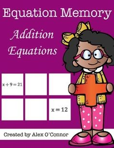 FREE Purchase all of my Equation Memory games as a part of the Equation Memory Bundle at the following link!Equation Memory BundleEquation Memory: Addition Equations is a math game that includes 24 memory cards. Students must match the addition equation with its solution.
