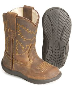 Toddler shoes that look like cowboy boots, but are better for their little feet! They are called Old West Toddlers' Crazy Horse Boots Bebe Love, My Bebe, Toddler Cowboy Boots, Kids Boots, Cowboy Baby, Camo Baby, Baby Boy Outfits, Kids Outfits, Baby Boy Shoes