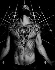 Crazy beautiful geometric tattoos | hot men with tattoos