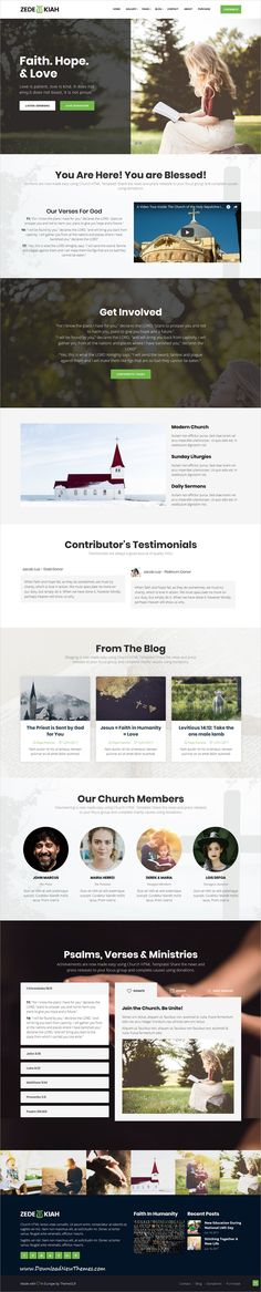 Zedekiah is clean and modern design responsive #bootstrap HTML template for #Church and #religious organizations website to live preview & download click on Visit