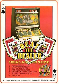 Beat The Dealer by CTL Game 1, Pinball, Arcade Games, Fruit, Classic, Derby, Classic Books