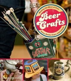 Beer Crafts: Making the Most of Your Cans, Bottle Caps, and Labels. Former professional chef and current crafter extraordinaire, Shawn Bowman dallied in a promising East Coast film career, but decided to chuck it away to raise a demanding and ungrateful family and an ill-tempered dog. Attached to her glue gun in a meaningful yet painful way, she spends her days skulking in Portland, Oregon, writing, making stuff, and drinking awesome beer.