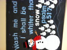 January winter bulletin board