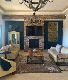 20+ Living Room with Fireplace That will Warm You All Winter | Dream ...