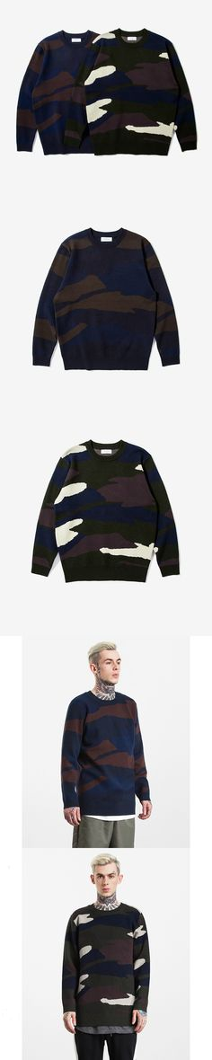 Winter European Style hip hop Camouflage O-neck Long Sleeves Knitting Sweater Mens Pullover Men Sweaters Pull Homme Erkek Kazak