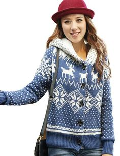 Pink Queen Womens Fashion Blue Snowflake Reindeer Christmas Sweater Hoodies ** Check out the image by visiting the link. (This is an affiliate link) Best Ugly Christmas Sweater, Christmas Sweaters For Women, Reindeer Christmas, Christmas Stuff, Perfect Woman, Fashion Outfits, Womens Fashion, Sweater Hoodie, Fashion Brands