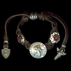 St. Christopher on Braided Leather $210.00