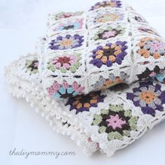 Crochet an Organic Cotton Granny Square Baby Blanket – Part 2: Joining the Squares & Finishing | The DIY Mommy