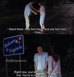 A walk to remember (: my favorite part. I always wished a boy would do this for me