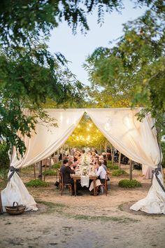 romantic outdoor reception