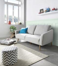 290 € / Mobilier - Salons Et Séjours - Canapés - Canapé 3 places NARVIK Tissu Gris clair