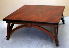 Dorset Custom Furniture - A Woodworkers Photo Journal: a square mahogany coffee table Wood Slab Table, Pine Dining Table, Reclaimed Wood Dining Table, Trestle Dining Tables, Cedar Furniture, Handmade Wood Furniture, Custom Furniture, Table Furniture, Mahogany Coffee Table