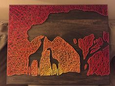 African Sunset String Art - Grab your safari gear...
