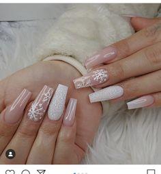 Snowflake-Nail-Designs Super Trendy Acrylic Nails For 2020 Chistmas Nails, Xmas Nails, Holiday Nails, Halloween Nails, Easy Halloween, Snowflake Nail Design, Snowflake Nails, Acrylic Nails Coffin Short, Best Acrylic Nails
