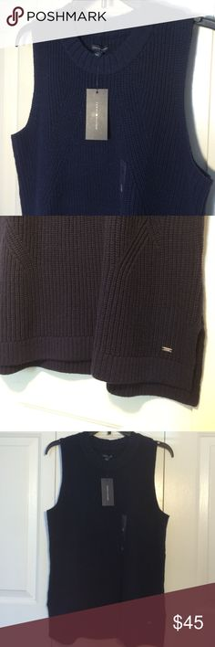 Tommy Hilfiger navy blue top size large women's Nwt Tommy Hilfiger Tops