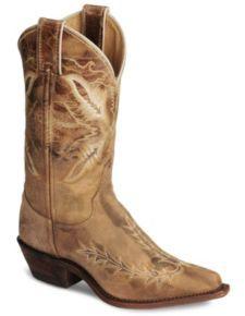 Justin Bent Rail Tan Puma Cowboy Boot