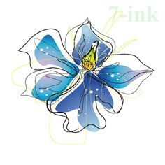 CC 30 6X6cm Little color Blue orchid Flower Temporary Tattoo Sticker Water Transfer Fake waterproof Tatoo For Gril Women #Affiliate